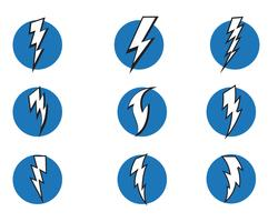 Lightning bolt flash thunderbolt icons vector