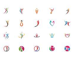 Logozeichen-Illustrationsvektor des menschlichen Charakters der Gesundheitsleute
