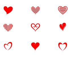 Logotipo de amor e símbolos vetor de app de vetor de modelo de símbolos