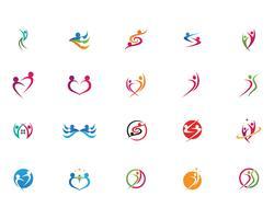 Personnes de la santé Caractère humain logo signe illustration vectorielle
