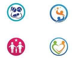 Adoption baby  and community care Logo template vector icon
