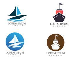 Schiff gefüllt Umriss Symbol Transport und Boot-Vektor-Bild.