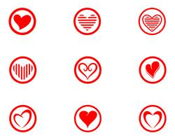 Love Logo and symbols Vector Template icons