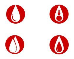 Blut-Vektor-Icons