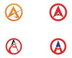Ein Geschäftsbrief-Logo und ein Symbol Schablonen-Vektorikone