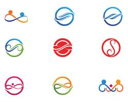 infinity logo and symbol template icons app vector