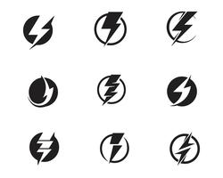 Flash bliksemschicht Template vector pictogram illustratie vector