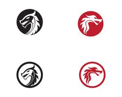Dragon logo icon vector