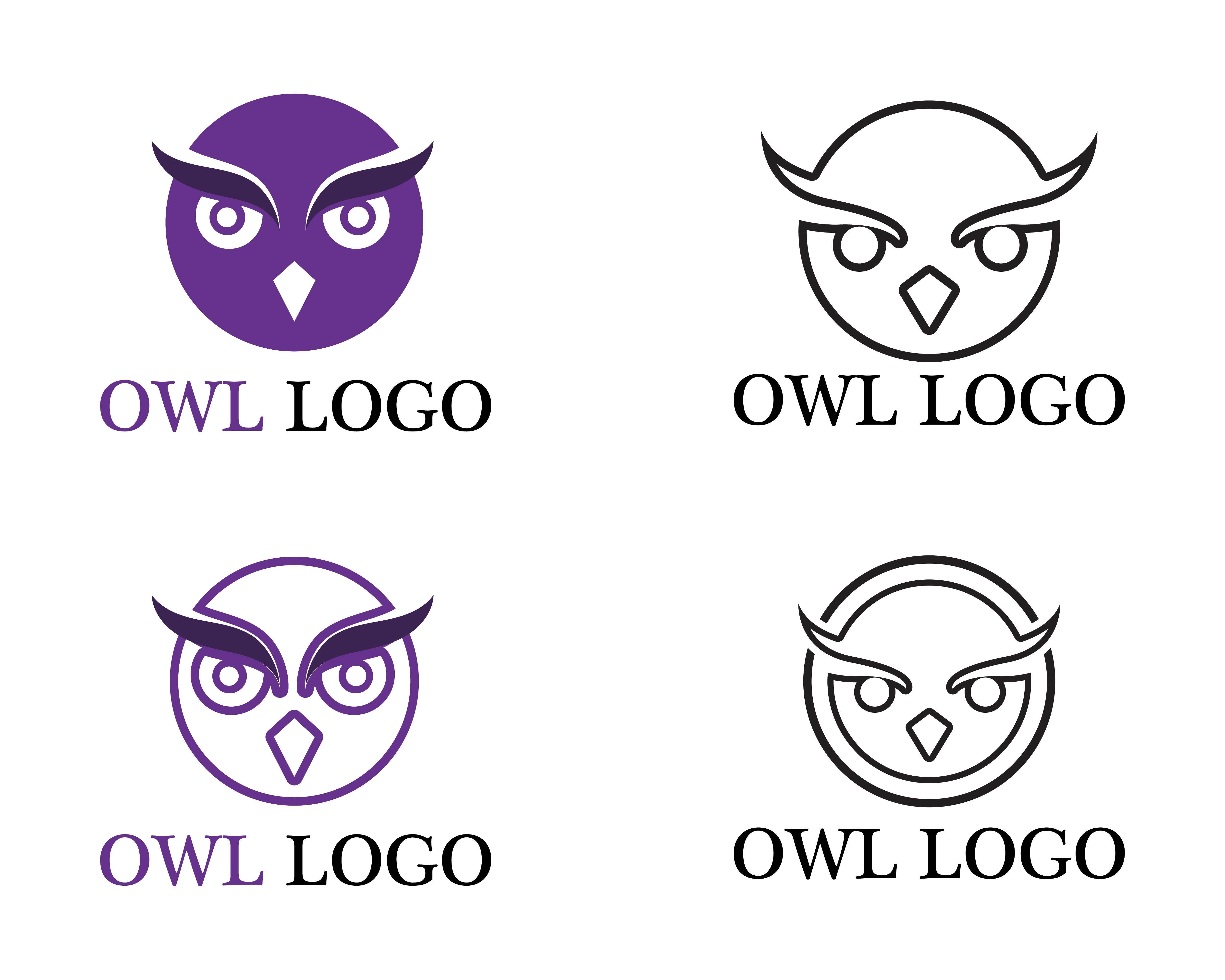 Owl Head Bird Logo Vector Template Animal Download Free Vectors Clipart Graphics Vector Art