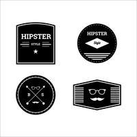 Conjunto de insignias de estilo hipster.