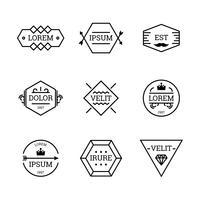 Conjunto De Emblemas Do Vintage