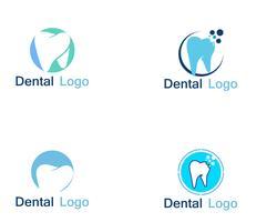 Tandheelkundige zorg logo en symbool