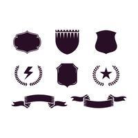 Conjunto de iconos de hipster de diseño de estilo vintage
