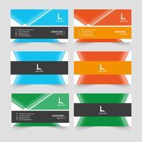 Design de cartão de visita criativo abstrata