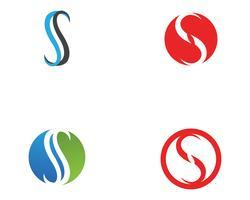 S logo y símbolos iconos vectoriales de plantilla