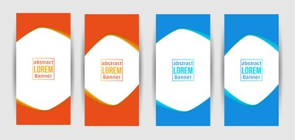 Design creativo astratto banner