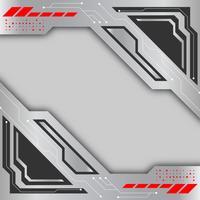 Cinza e prata cor de fundo vector. Conceito de fundo abstrato de tecnologia digital
