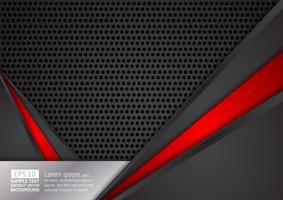 Abstract geometric black and red color technology modern design background, vector illustration. for your business