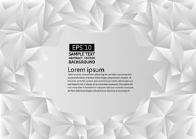 Fondo de vector abstracto de polígono blanco y gris con espacio de copia, ilustración vectorial