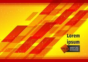 Abstrait géométrique rouge et jaune avec espace copie, Illustration vectorielle
