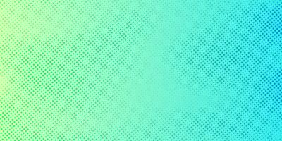 Abstract bright green and blue gradient color background with halftone pattern texture. Creative cover design template