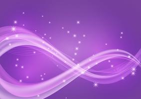 Abstract Wave Purple Color Background With Copy Space Vector Illustration