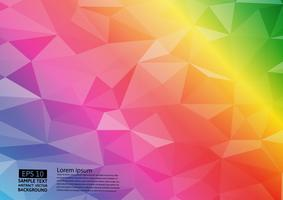 Rainbow color geometric triangular gradient illustration graphic vector background. Vector polygonal design for your business background.