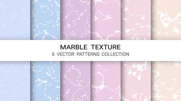 Marble Texture, Premium Set of Vector Patterns Collection, Abstract Background Template.