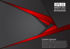 Geometric abstract background red and black color with copy space modern design, Vector illustration