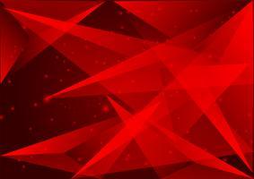 Polígono de cor vermelha abstrato design moderno, ilustração vetorial
