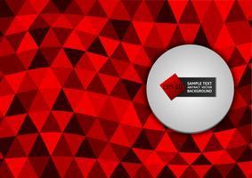 Triângulos de cor vermelha novo design abstraem design moderno de fundo, ilustração vetorial