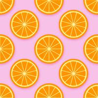 Orange Slices Background Vector
