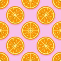 vettore di sfondo di fette d'arancia
