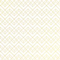 Gold geometric pattern with lines on white blue background art deco style.