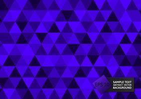 Triângulos de cor roxo novo design abstraem design moderno de fundo, eps10 de ilustração vetorial
