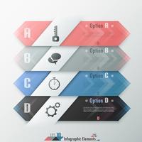 Banner de opciones de infografía moderna