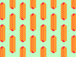Hot Dog Seamless Vector Background