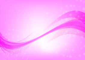 Abstract wave pink color background with copy space Vector illustration