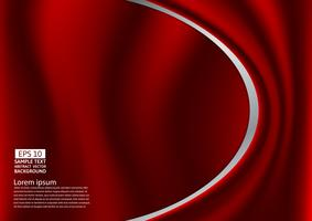 Abstract red design of curves or cloth or liquid wave illustration background