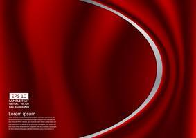 Disegno rosso astratto delle curve o del panno o del fondo liquido dell'illustrazione dell'onda