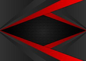 Vector red and black color geometric abstract background EPS10