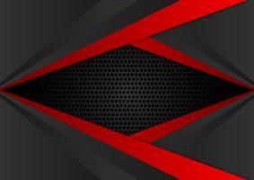 Vector il fondo astratto geometrico EPS10 di colore rosso e nero
