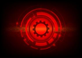 Red color abstract background digital technology concept. Vector illustration