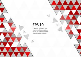 Vector abstract geometric red and gray background modern design eps10 with copy space