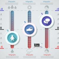 Flaches Infographik Design