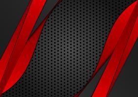 Rote und schwarze Farbe des abstrakten geometrischen Hintergrundes. Vektor-Illustration
