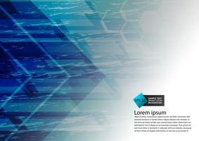 Cor azul geométrica design moderno abstrato com espaço de cópia, ilustração vetorial