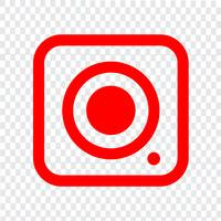 Sinal de ícone da câmera