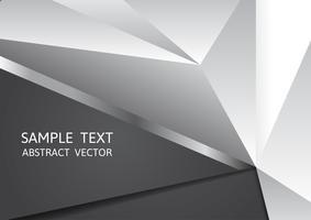 Couleur de fond noir et blanc géométrique abstrait vector avec espace copie, graphisme