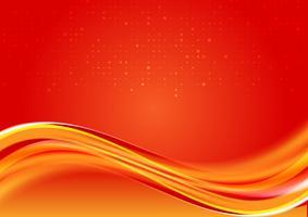 Couleur rouge abstrait belle vague fond avec espace copie pour le design moderne de votre entreprise, illustration vectorielle